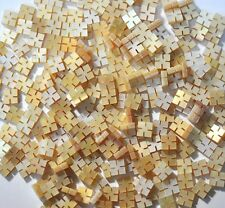 DIM6# 20 Square Diamond Inlays in Gold Mother of Pearl 4mm x 4mm x 1.5 thickness