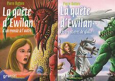 LA QUETE D'EWILAN  tomes 1 et 2 Pierre BOTTERO TBE