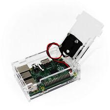 Raspberry Pi 3 model B  Motherboard Clear Case Mini Cooling Fan 3  Items