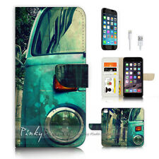 iPhone 7 (4.7') Flip Wallet Case Cover P3173 Kombi Van