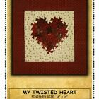 MY TWISTED HEART QUILT PATTERN Uses Itty Bitty Pinwheel Twister Tool Mini Charms