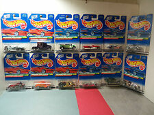 1998 Hot Wheels TH Treasure Hunt Set - Complete 1-12 - All Mint On VNM Cards -