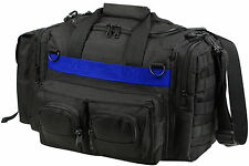 Black Tactical Police Emergency Concealed Carry Bag with Thin Blue Line