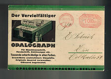 1923 Frankfurt Germany Meter cover to Vienna Austria Opalograph Advertising