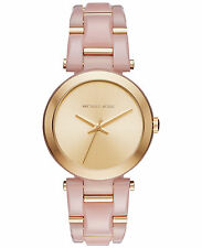 Michael Kors Women's MK4316 Delray Analog Gold Dial Two-Tone Bracelet Watch