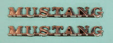 NEW! 1965-1966 FORD MUSTANG Script Metal Chrome Script Emblems Pair Stick on