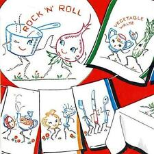 Hand Embroidery Transfer 260 Animated Vegetables for Kitchen Towels Potholders