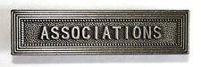 Agrafe barrette ASSOCIATIONS pour ruban de médaille de la sécurité intérieure.