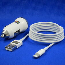 iOS 7 Genuine UOCAM Lightnin Cable + USB In Car Charger For Apple iPhone 5S 5C 5