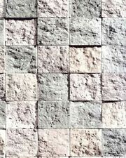 Galerie Bluff Feature Wallpaper Brick Stone Square Tile Effect J19007