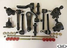 4 Ball Joints 4 Tie Rod Ends 1 Pitman 1Idler Arm 2 Sway Bar 2 Sleeves