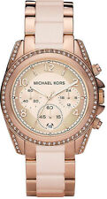 Michael Kors MK5943 Ladies Blair Chronograph Rose Gold Stainless Steel Watch