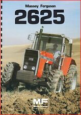 French Original  Prospect  Tracteur Tractor Massey Ferguson MF2625 / 2 pages