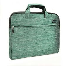 "Green Nylon Lycra Fabric Sleeve Briefcase for All 11"" Macbook Air / Chromebook"