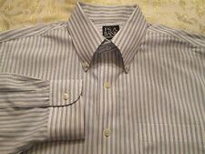 JOS A BANK TRAVELER'S COLLECTION SHIRT TAILORED FIT SIZE 16/33