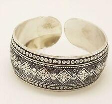 Tibetan plata señora pulsera pulseras Square Flower regulable joyas geschen