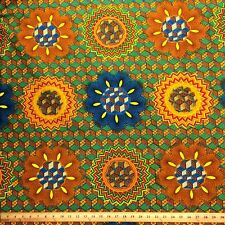 African Print Fabric 100% Cotton 44'' wide sold by the yard Rubix (90113-3)