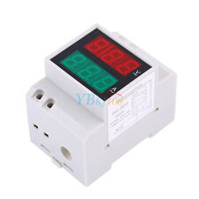 AC 200-450V Digital Din Rail Display Power Voltmeter Voltage Current Meter 3S4