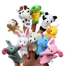 10pcs Baby Kid Zoo Farm Animal Finger Puppet Bed Play Tell Story Plush Cloth Toy