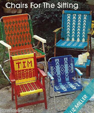 Macrame LAWN CHAIR PATTERNS: geometrics, child, adult - CHAIRS FOR THE SITTING