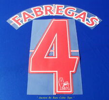 "LEXTRA ID SPORTIVO Arsenale Player Issue ""FABREGAS 4"" AWAY nome e numero serie"