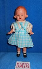 Vintage 1950s German Eli Tiny Toddler Doll Hard Plastic Celluloid DW76