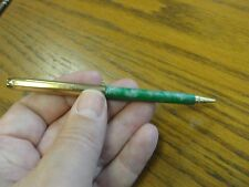Vintage 1930's Tucker Mechanical Pencil Working Green & Goldtone