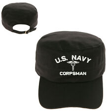 U.S. NAVY CORPSMAN MILITARY CADET ARMY CAP HAT HUNTER CASTRO
