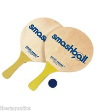 Original SMASHBALL SET Beach Lake Pool Paddle Ball Kit Wooden Game Float SBS-1
