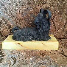 Excellent Quality Mottahedeh Italy Black Ceramic Seated Ram Figurine