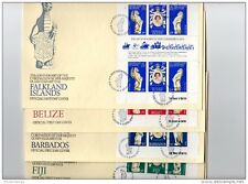 British Commonwealth 1977 QEII Silver Jubilee Illustrated First Day Covers X365
