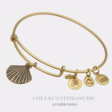 Authentic Alex and Ani Sea Shell Rafaelian Gold Charm Bangle