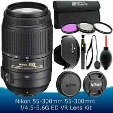 Nikon 55-300mm f/4.5-5.6G ED AF-S DX VR Lens Accessory Kit for D3100 D3200 D3300