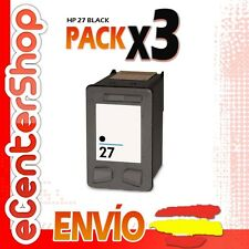 3 Cartuchos Tinta Negra / Negro HP 27XL Reman HP PSC 1210