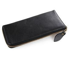 JMD Fashion Black Genuine Leather Wallet Men's Clutch Bag Vintage Style