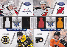 12-13 Certified Zach Parise James Van Riemsdyk /99 Jersey Path To The Cup 2012