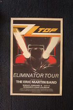 Z.Z. Top 1984 poster Biloxi Mississippi Eliminator tour