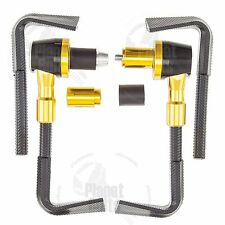 "Gold Lever Guards CNC Plastic Brake Clutch 7/8"" Handlebar Protection Bar End"