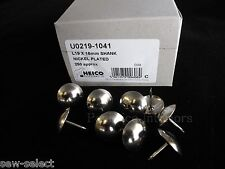 250 LARGE 19mm UPHOLSTERY NAILS Silver Nickel chrome domed head Big pin studs
