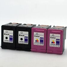 4PKs HP 60 Ink For Photosmart e-All-in-One D110a Deskjet F2480 F2492 F4235 F4272