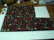 vintage 1950's wrapping paper---little folk -hand printed--