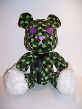 MILITARY CAMOUFLAGE TEDDY BEAR PLUSH PRIZE TAITO SOFT DOLL RARE CAMO HTF 12""