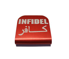 Infidel Red Hat Clip for Tactical Patch Caps by Morale Tags