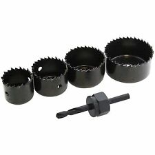 5 Pcs HOLE SAW SET DRILL BIT DRILLING CUTTER ROUND CIRCULAR 25MM 35MM 44MM 54MM