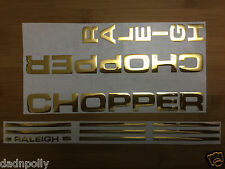 RALEIGH CHOPPER MK 1 DECAL SET - SHINY GOLD - CHOPPER STICKERS