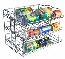 IZLIF 3 Tier Stackable Pantry Can Organizer Rack New Support Design Storage for
