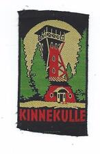 Kinnekulle Mountain Tower Västergötland Province Sweden Old Woven Travel Patch