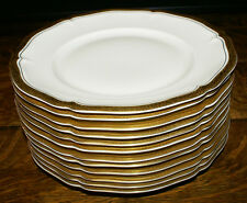 """Rosenthal Chippendale Double Gold * TWELVE Dinner Plates * 10"""" Excellent"""