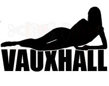 vauxhall corsa astra opel sexy girl car sticker logo vinyl  novelty fun decals