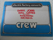 Hall & Oates w/Karla DeVito - backstage passCREW  - Tower Theater